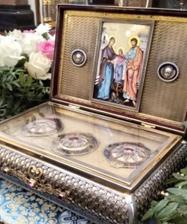 В Храме на Крови состоялась встреча ковчега с частью Пояса Пресвятой Богородицы