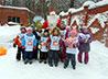 Лыжную тренировку для малышей Пантелеимоновского прихода провел Дед Мороз