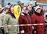 Жители Большого Истока собрались за общим молебном на стройплощадке будущего храма