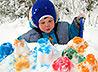 Зимний городок для малышей построила Никольская община села Курганово