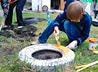 Ребята приходской школы Покровского храма участвовали в ее ремонте