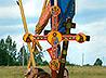 В Свято-Николаевском приходе села Курганово освящены уникальные кованые кресты-хоругви