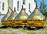 В Полевском освятили кресты и главки для Свято-Троицкого храма