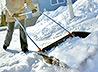 В селе Светлое состоялась первая зимняя уборка церкви Рождества Христова