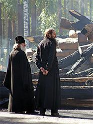 Пожар в монастыре в честь Святых Царственных Страстотерпцев