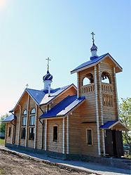 Архиепископ Викентий освятил новопостроенный храм в поселке Санкино Алапаевского района