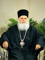 Телеканал «Союз» посетил игумен Ватопедского монастыря
