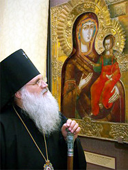 Архиепископ Викентий посетил открывшуюся в Екатеринбурге выставку «Свет уральской иконы»