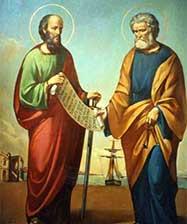12 июля – день святых первоверховных апостолов Петра и Павла.