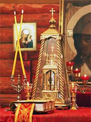 Архиепископ Викентий освятил храм во имя Великомученика Георгия Победоносца на областном призывном пункте Егоршино